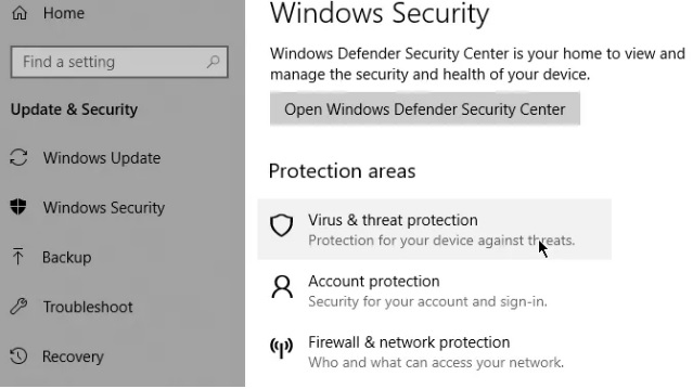 cach quet malware tren windows 10