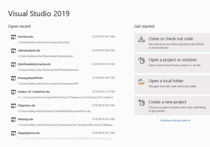 visual studio 2019 co gi moi