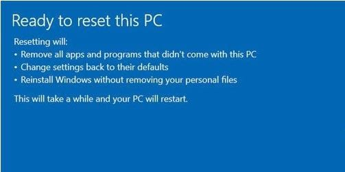 dieu gi se xay ra khi reset lai windows 10