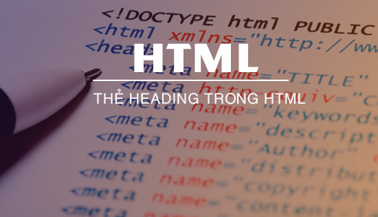 the heading trong html hoc html