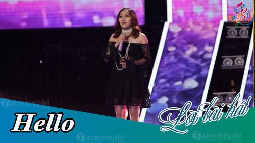 loi bai hat hello giong hat viet 2018