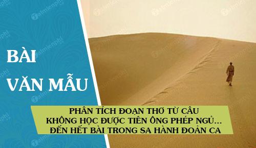 phan tich doan tho tu cau khong hoc duoc tien ong phep ngu den het bai trong sa hanh doan ca