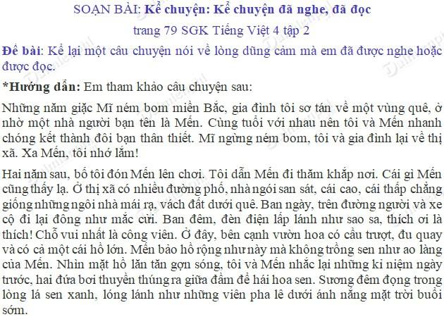 soan bai ke chuyen ke chuyen da nghe da doc trang 79 sgk tieng viet 4 tap 2 soan tieng viet lop 4