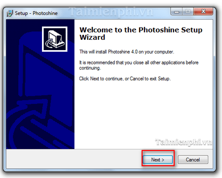Installation Instructions image editor PhotoShine
