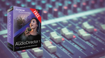giveaway ban quyen mien phi cyberlink audiodirector chinh sua am thanh
