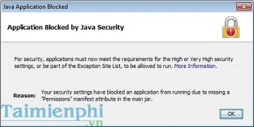 cach sua loi application blocked by java security khi ke khai thue qua mang