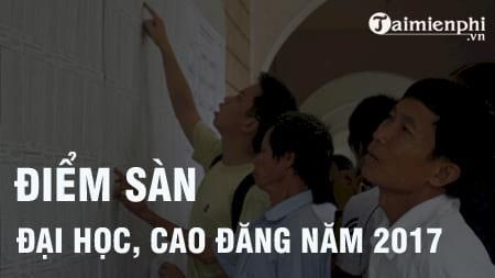 diem san dai hoc cao dang