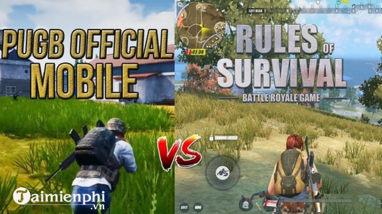 so sanh pubg mobile va ros mobile