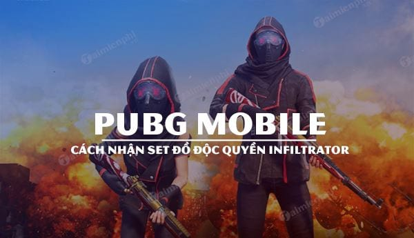 cach nhan mien phi set do infiltrator pubg mobile doc quyen