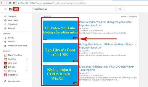 cach lay hinh thumbnail cua youtube