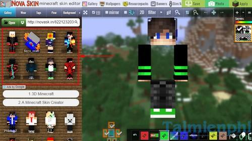 thay skin cho minecraft