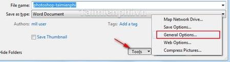 Hướng dẫn đặt mật khẩu bảo vệ tài liệu Word hoặc Excel - www.TAICHINH2A.COM