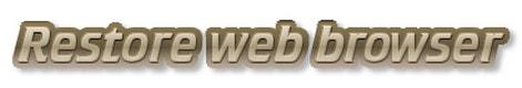 khoi phuc lai trinh duyet web