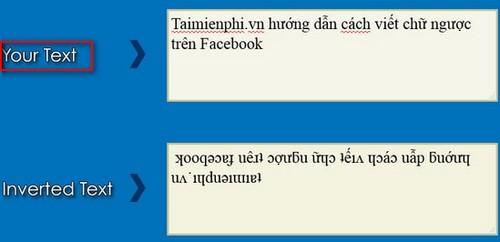 cach viet chu nguoc tren facebook