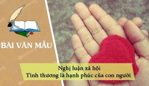 nghi luan xa hoi tinh thuong la hanh phuc cua con nguoi
