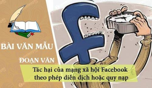 viet doan van theo phep dien dich hoac quy nap ve tac hai cua mang xa hoi facebook