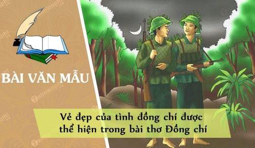 ve dep cua tinh dong chi duoc the hien trong bai tho dong chi