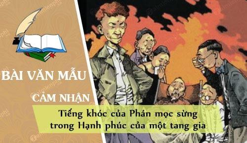 cam nhan ve tieng khoc cua phan moc sung trong hanh phuc cua mot tang gia