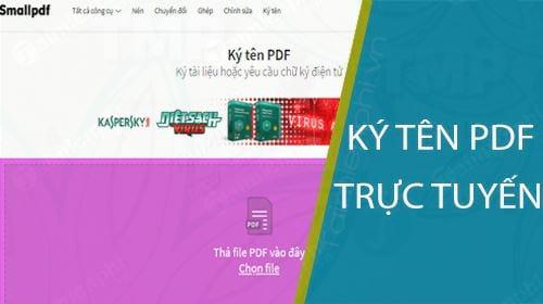 huong dan ky ten pdf truc tuyen don gian