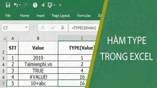 ham type trong excel