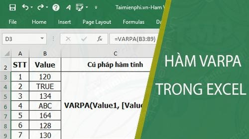 ham varpa trong excel