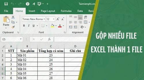 huong dan gop nhieu file excel thanh 1 file