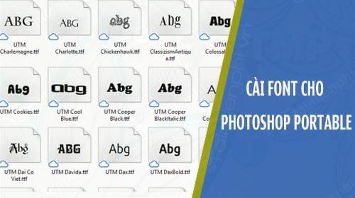 cach cai font chu dep cho photoshop portable