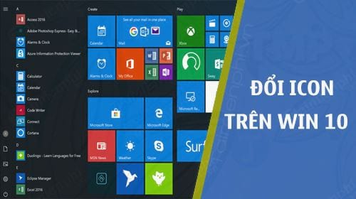 doi bieu tuong icon tren windows 10
