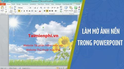 cach lam mo anh nen trong powerpoint