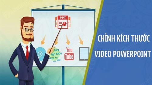 cach keo to thu nho video tren powerpoint chinh kich thuoc video