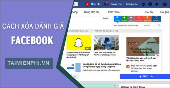 huong dan cach xoa danh gia tren trang facebook