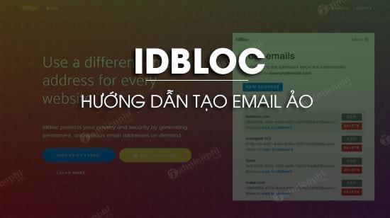huong dan tao email ao tren idbloc