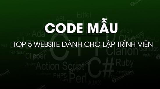website code mau danh cho lap trinh vien