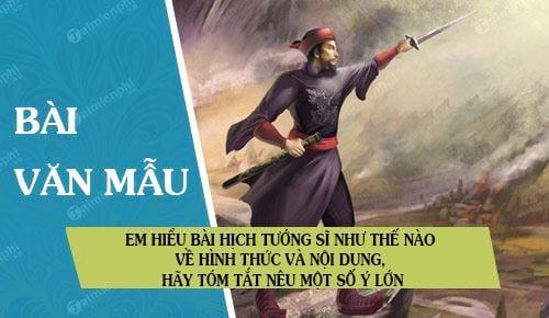 em hieu bai hich tuong si nhu the nao ve hinh thuc va noi dung hay tom tat neu mot so y lon