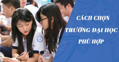 cach chon truong dai hoc phu hop
