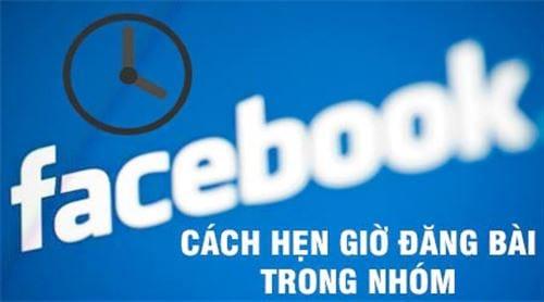 cach hen gio dang status facebook tren may tinh len lich dang bai