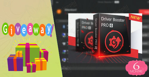 giveaway ban quyen mien phi driver booster 6