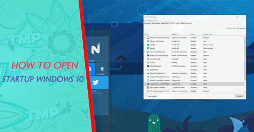 cach mo startup windows 10