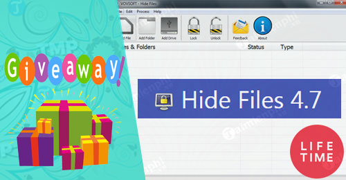 giveaway ban quyen mien phi vovsoft hide files