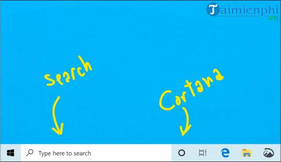 microsoft tach cortana ra khoi windows search tren windows 10
