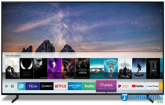 apple mang itunes len smart tv samsung