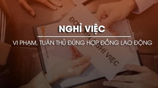nghi viec the nao la vi pham hop dong lao dong