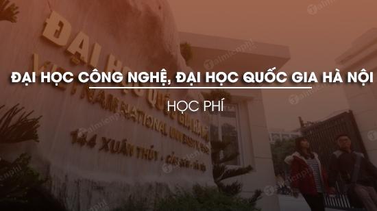 hoc phi dai hoc cong nghe dai hoc quoc gia ha noi