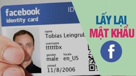 Cách lấy lại mật khẩu Facebook bằng CMND, chứng minh thư