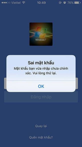 cach lay lai mat khau facebook tren iphone