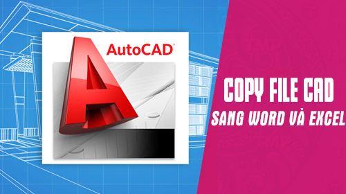 Copy hình ảnh từ AutoCAD sang Word, Excel, sao chép ảnh từ