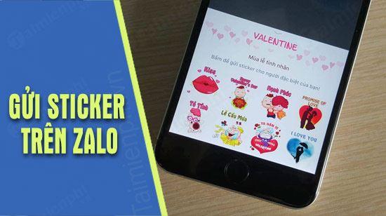 huong dan gui sticker valentine tren zalo pc