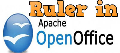 hien thi thanh ruler trong openoffice