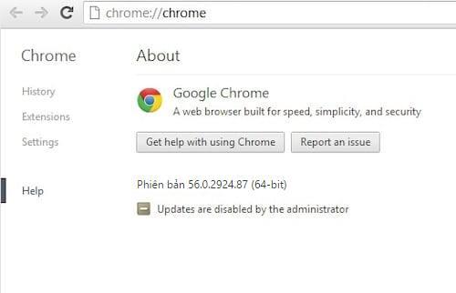 sua loi google chrome khong the update