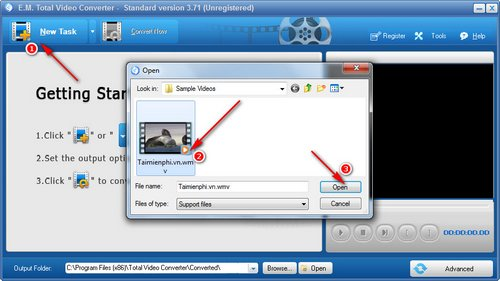 tang giam am luong bang total video converter